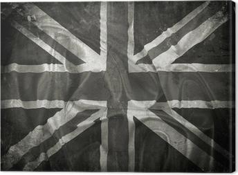 Grunge Union Jack flag background Canvas Print