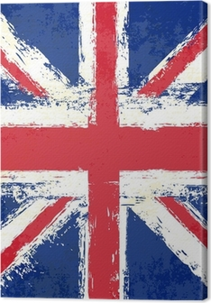 Grunge Union Jack Canvas Print