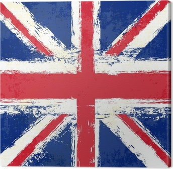 Grunge Union Jack Canvas Print