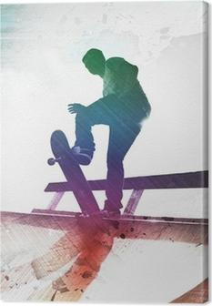 Grungy Skateboarder Canvas Print