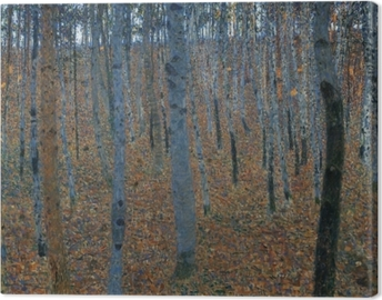 Gustav Klimt - Birch Forest Canvas Print