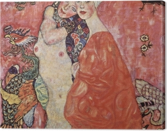 Gustav Klimt - Friends Canvas Print