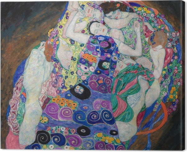 Gustav Klimt - The Maiden Canvas Print - Reproductions