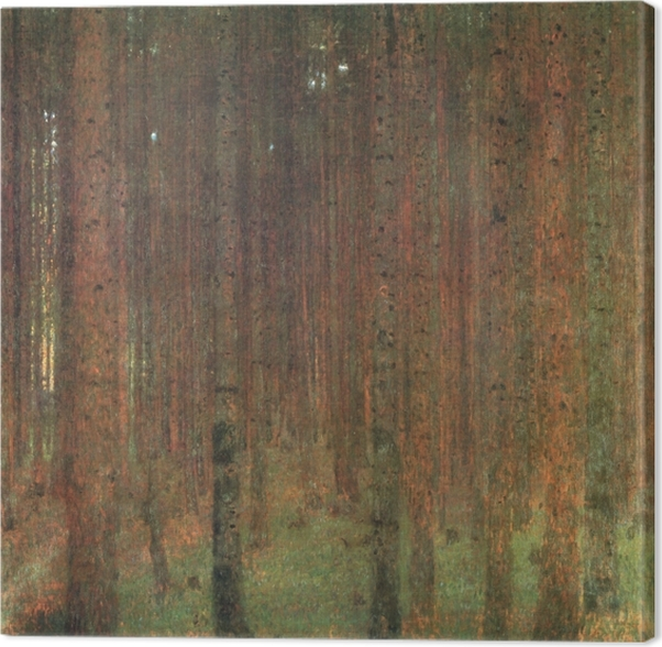 Gustav Klimt - The Pine Forest Canvas Print - Reproductions