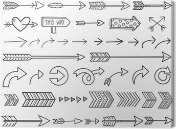 Hand Drawn Arrows Canvas Print
