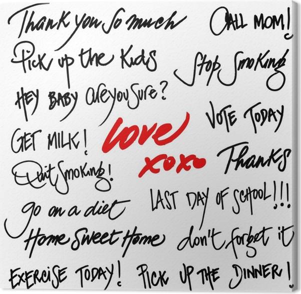 Hand written greetings set of generic stock phrases canvas print hand written greetings set of generic stock phrases canvas print m4hsunfo