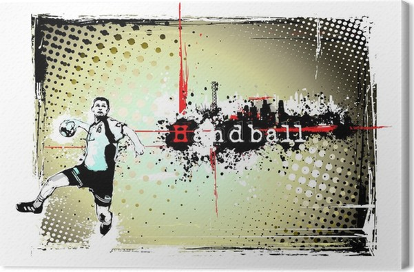 handball frame Canvas Print • Pixers® • We live to change