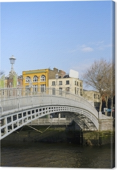 Hapenny Bridge Canvas Print