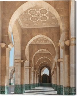 Hassan II Mosque interior Casablanca Morocco Canvas Print