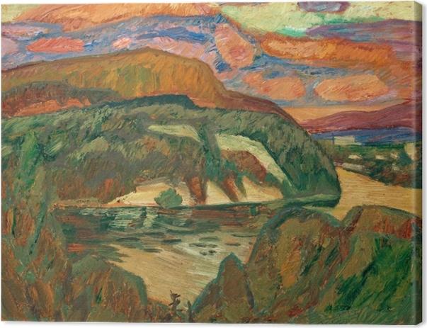 Helmer Osslund - View From Osslundgården Canvas Print - Reproductions