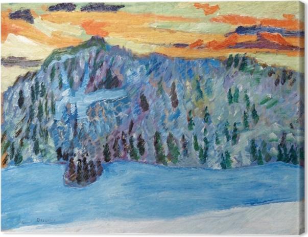 Helmer Osslund - Winter Landscape, Näsåker Canvas Print - Reproductions