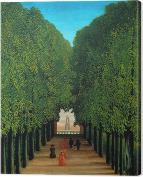 Henri Rousseau - Alleyway in the Park of Saint-Cloud Canvas Print - Reproductions