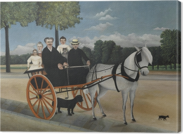 Henri Rousseau - Junier's Cart Canvas Print - Reproductions
