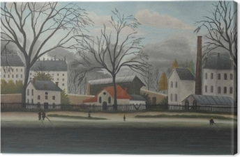 Henri Rousseau - Suburban Scene Canvas Print