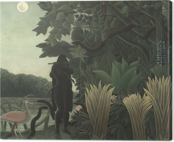 Henri Rousseau - The Snake Charmer Canvas Print - Reproductions