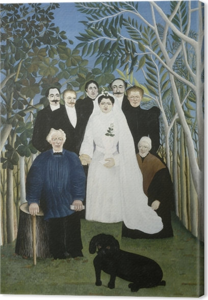 Henri Rousseau - The Wedding Party Canvas Print - Reproductions