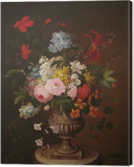Henryka Beyer - Flowers in a Jar Canvas Print - Reproductions