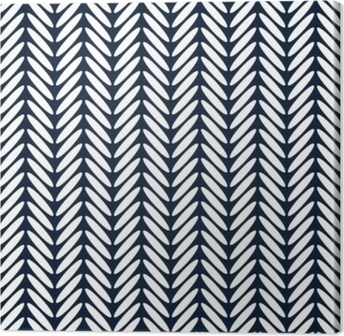 Herringbone classic seamless pattern vector Canvas Print