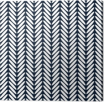 Herringbone classic seamless pattern vector Canvas Print