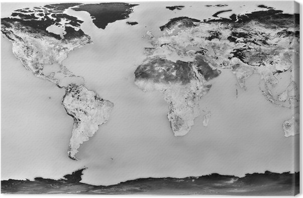 High resolution black and white world map canvas print pixers high resolution black and white world map canvas print business concepts gumiabroncs
