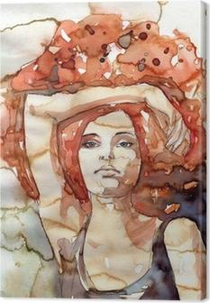 hipis, lata 70 Canvas Print