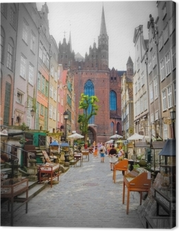 historic city of Gdansk Canvas Print