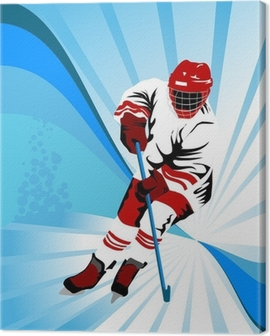hockey whate Canvas Print