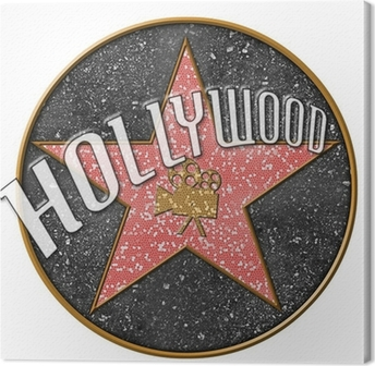 Hollywood Star Canvas Print