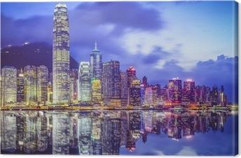 Hong Kong, China City Skyline Canvas Print