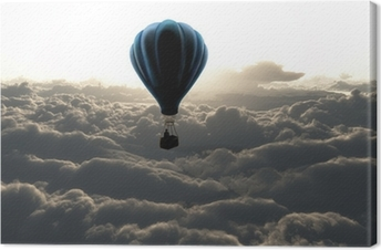 Hot air balloon in the sky Canvas Print