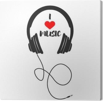 I love music Canvas Print