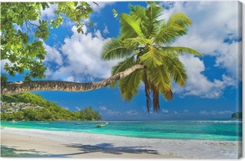 Idyllic tropical scenery - Seychelles Canvas Print