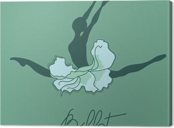 Illustration of ballet dancer Canvas Print