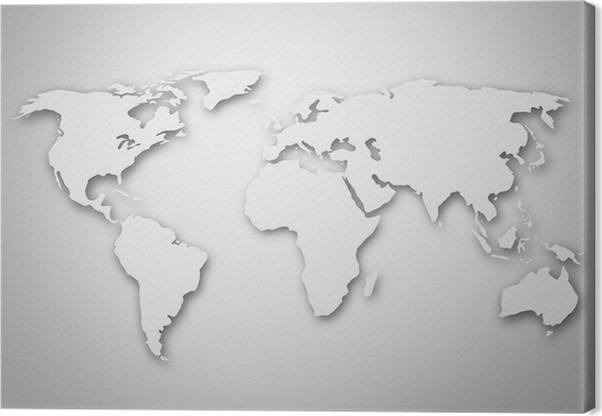 Image of a stylized world map canvas print pixers we live to change image of a stylized world map canvas print holidays gumiabroncs Images