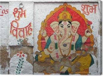 inde - ganesh Jaisalmer Canvas Print
