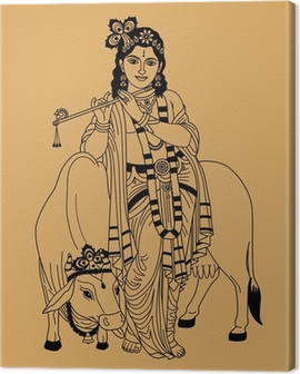 Indian god Canvas Print