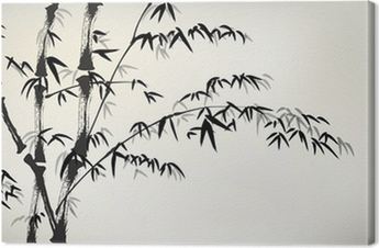 ink painted bamboo Canvas Print