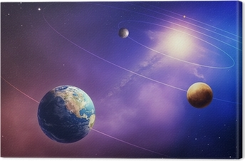 Inner solar system planets Canvas Print