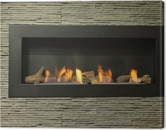 interior fireplace Canvas Print