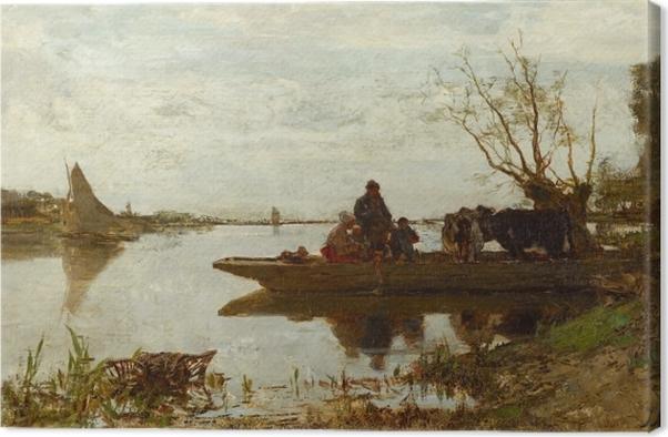 Jacob Maris - Ferry Canvas Print - Reproductions