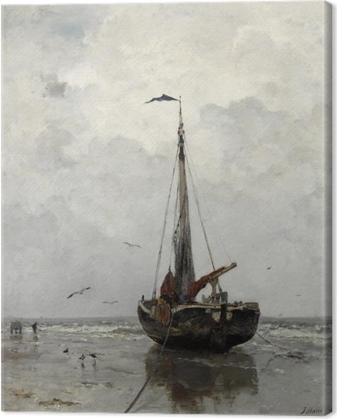 Jacob Maris - Fishing Boat Canvas Print - Reproductions
