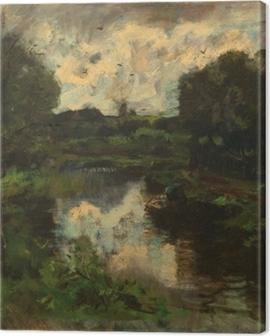 Jacob Maris - Polder after Thunderstorm Canvas Print