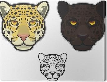Jaguar or Leopard Face Canvas Print