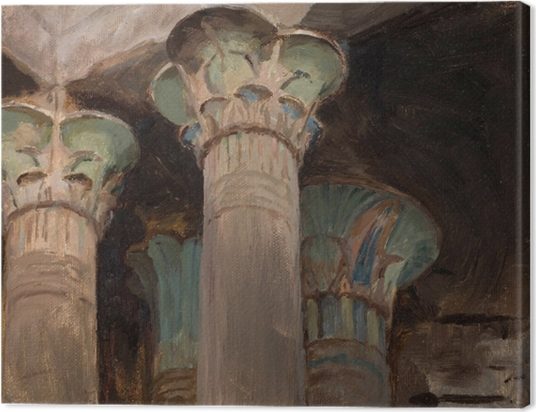 Jan Ciągliński - Capitals in the Temple of Isis. From the Journey to Greece. Canvas Print - Reproductions