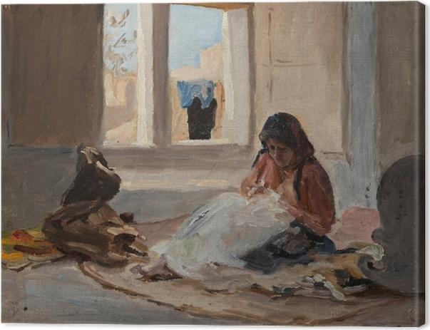 Jan Ciągliński - Nazareth. From the Journey to Palestine. Canvas Print - Reproductions