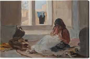 Jan Ciągliński - Nazareth. From the Journey to Palestine. Canvas Print