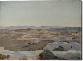 Jan Ciągliński - Ramallah near Jerusalem. From the Journey to Palestine. Canvas Print