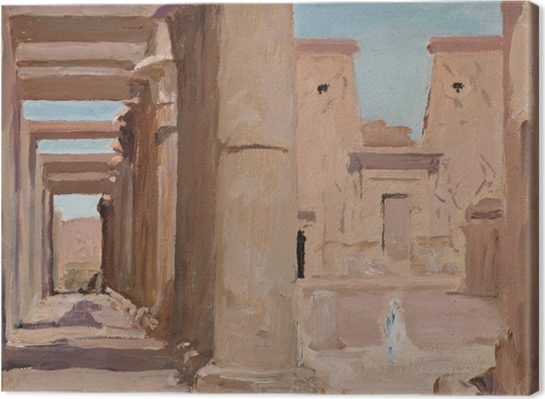 Jan Ciągliński - Temple. From the Journey to Egypt. Canvas Print - Reproductions