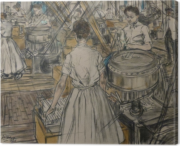 Jan Toorop - Candle Factory in Gouda, 1 Canvas Print - Reproductions