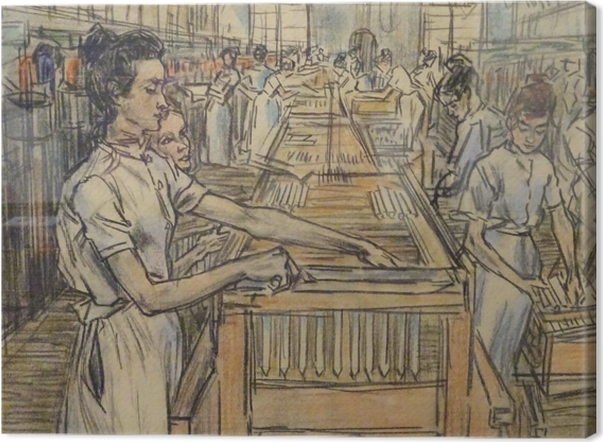 Jan Toorop - Candle Factory in Gouda, 2 Canvas Print - Reproductions